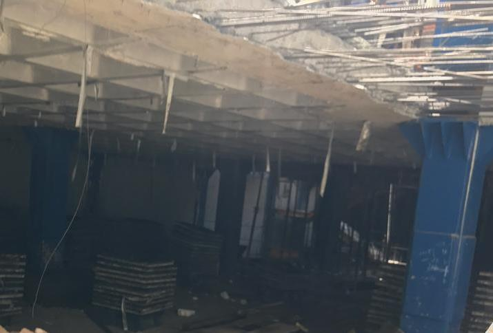 سقف با قالب وافل و ستون فولادی , تهران - نارمک تابستان 98