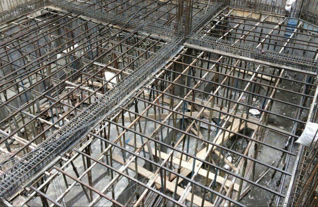 سقف وافل، زیر سازی قالب وافل
