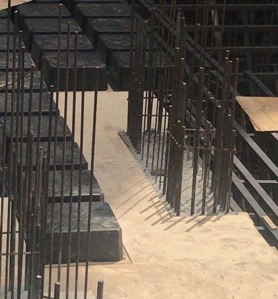 قالب بندی صحیح اتصال ستون و سقف وافل