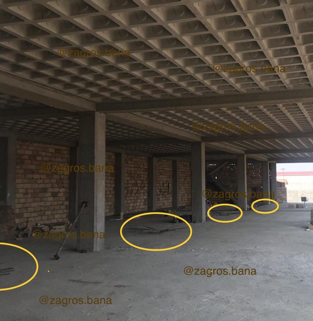 تبدیل روش اجرای پروژه از سقف تیرچه یونولیت به سقف وافل و حذف ستون های اضافی