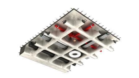 کاربرد سقف وافل در اجرای تاسیسات