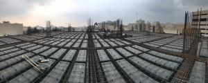 سقف وافل و قالب وافل یک طرفه