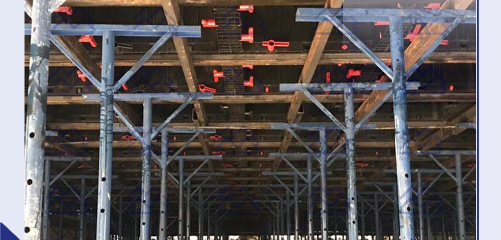نمای زیر قالب قفل دار زیر سازی سقف وافل