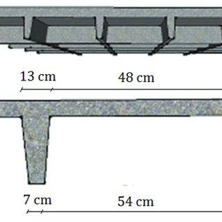 مقایسه ضخامت سقف وافل و سقف پیش تنیده